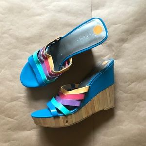 Nine West rainbow shoes